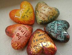 Polymer Clay Hearts by Tejae Floyde ~ love her hearts & enjoyed her online class tutorial @ CraftEdu!