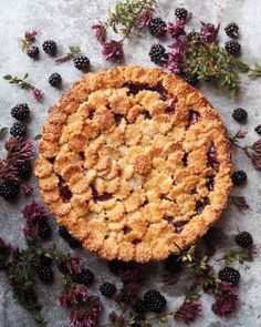 Blackberry-Oregano Pie Recipe