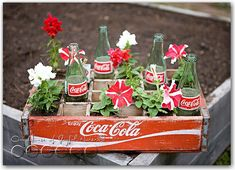 Coke bottle decorations - I'd love to find one of these old boxes!