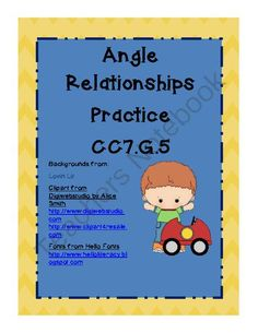 Angle Relationship Practice CCS 7.G.5 from Teacher Twins on TeachersNotebook.com -  (4 pages)  - This coloring sheet reviews the following angle relationships; complementary, supplementary, vertical and adjacent.