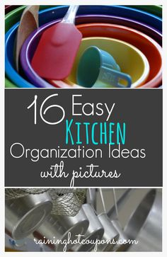 16 Easy Kitchen #Organization Ideas and Tips with Pictures! - Raining Hot Coupons
