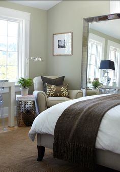 This is a beautiful green/gray. The Best Benjamin Moore Paint Colors: November Rain 2142-60
