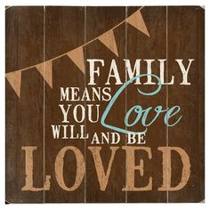 Family Means Love Wall Art