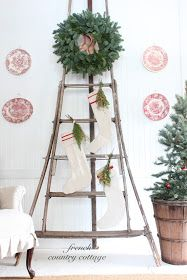 FRENCH COUNTRY COTTAGE: Christmas Orchard Ladder Love