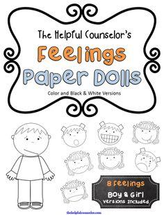 Feelings Paper Dolls