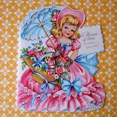vintage southern belle card
