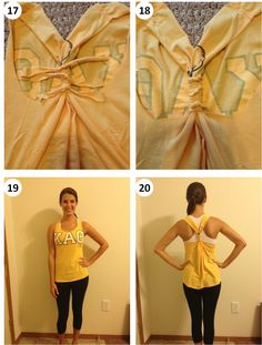 This is what i'm going to do with all my old t-shirts after they get to big for me :) Great workout shirt! Tshirt to Tank  No Sew DIY