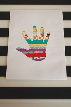 Paper Strip Handprint Art {& Keepsake} ‹ Mama. Papa. Bubba.Mama. Papa. Bubba.