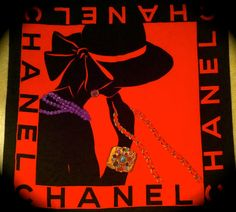 vintage chanel mademoiselle scarf by lovethrift on Etsy, $100.00