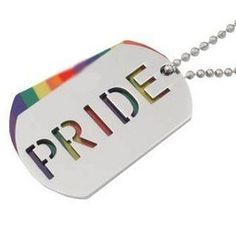 2pc. Pride Rainbow Dog Tag - Gay & Lesbian LGBT Pride Necklace
