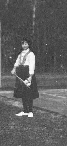 Grand Duchess Anastasia Nikolaevna Romanova of Russia at tennis.A♥W
