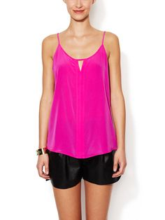 Silk Cut-Out Camisole from Think Pink: The Perfect Fall Hue on Gilt