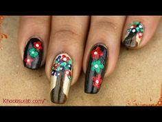 Funky Tree Style nail Art! By Khoobsurati.com