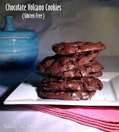 Chocolate Volcano Cookies   Taking On Magazines   www.takingonmagazines.com   These gluten-free Chocolate Volcano Cookies are deliciously chewy on the inside and crunchy on the outside with an uber-rich chocolate flavor.