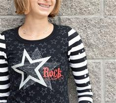 Your teen will love this adorable rock star T-shirt
