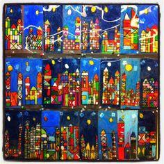 Art Projects for Kids: Based on Paul Klee. Oil Pastel on Acetate. paul klee art projects, quebec, paul klee for kids, art educ, oil pastel art for kids, oil pastels, artist, school idea, student art