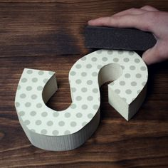 How to attach paper to a wood letter