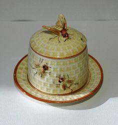 bee hive honey jar ... vintage