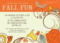 Fall Fun Invite by LindsayJayeDesign on Etsy, $15.00