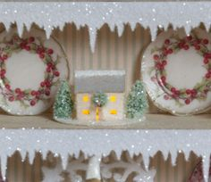 Icicle Shelf Edging for your putz  display