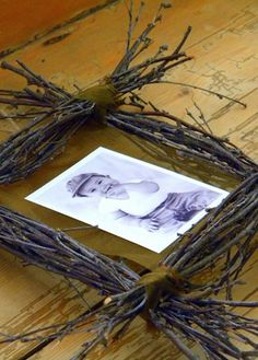 gathered twigs picture frame