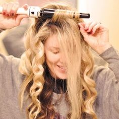 How-to Get MEGA VOLUME in Your Hair By Maegan Tintari Tip 12 If you're going to wave your hair with an iron, to get extra volume, wrap all your hair around the wand up and back as shown here: Soft Beachy Waves Hair Tutorial with a Hot Tools Tapered Ceramic Curling Iron