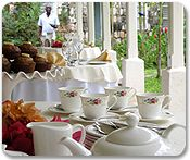 High tea at Good Hope Estate in Falmouth, Jamaica. One of the excursion options on the summer cruise.