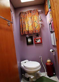 Cutest RV bathroom ever.  Maybe only cute RV bathroom ever.