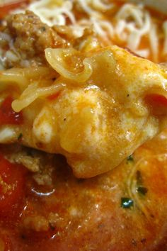 Lasagna Cheese Soup #Recipe