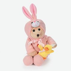 Plush Bear In Bunny Costume - OrientalTrading.com7.25ea