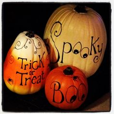 GREAT Halloween pumpkins #halloween #pumpkin #pumpkins #spider #spiders #spiderwebs #great #halloweenideas #black #blingbling #fall #decor #decoration #decorations #family #fun
