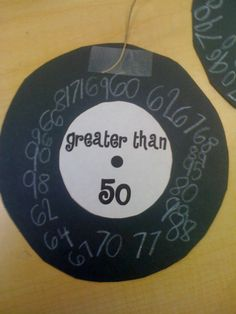50's day.  Greater than 50 numbers on a record cutout.