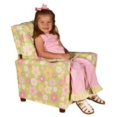 The delicately beautiful Dozydotes Ellies Garden Child Recliner Chair with Cup Holder features a subdued floral pattern that will coordinate with a variety of home decors and give your child a fancy place to rest. Covered in a kid-durable fabric that is pastel green with pink and yellow flowers this chair features a convenient cupholder built in to the armrest to keep drinks close at hand. Perfectly proportioned for a child this chair has a recli