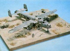 Derelict B-25 diorama by Shepard Paine, The Master Storyteller.