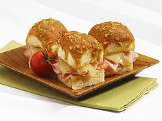 A sweet and savory mix of the classic ham and Swiss cheese pairing together with the island flavor of light and onolicious King's Hawaiian Original Hawaiian Sweet Dinner Rolls.