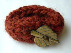 Autumn Knit Bracelet by WindyCityKnits on Etsy, $8.00