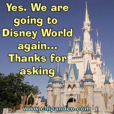 Why yes I am going to Disney again!