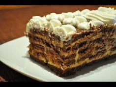 Tarta de Chocolate con Galletas   Receta casera   Receta facil