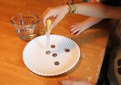 Easy experiment for kids - transform dirty pennies into shiny ones with a simple chemical reaction!
