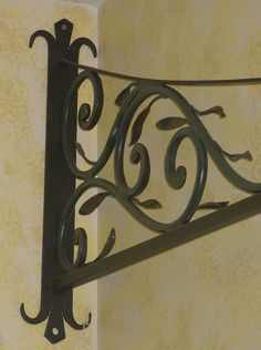 wall plate hand forged bracket