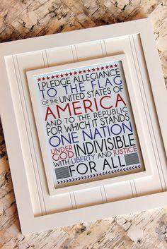 Pledge of Allegiance Free Printable