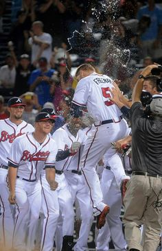 Freddie Freeman celebrating walk off!