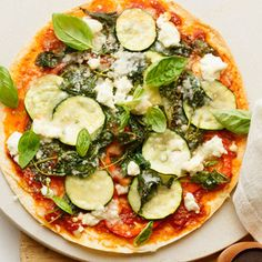 Get the recipe for Skinny Veggie Pizza.