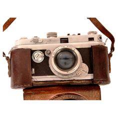 Vintage 2 Piece Foca Camera & Case Set