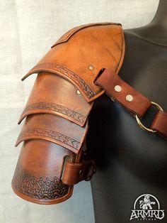 Leather Shoulder Armour - LARP