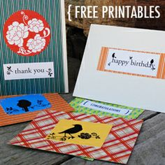 Make your own note cards with this free printable!