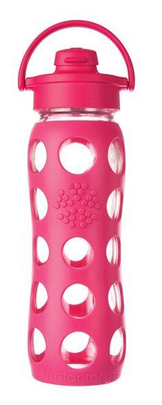 Pink Lifefactory bottle