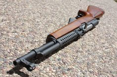 Great looking SKS with parkerized furniture an custom wood stock.