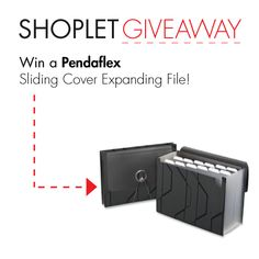 #Win a Pendaflex Sliding Cover Expanding File!v a Paperflow Literature Display! Repin, then go to our blog and leave us a comment letting us know what you plan on filing away :) Good luck! #GIVEAWAY