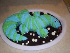 Blue/Green Lizard Cake